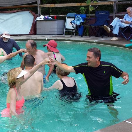 Hunterdon flutterwheels for Pool dance show